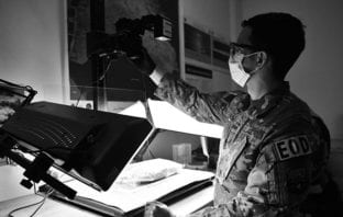 EOD Airman provides critical skillset to Army forensics team