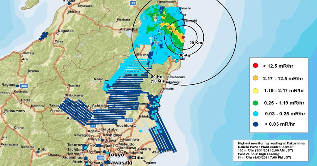 Fukushima Disaster Area Map