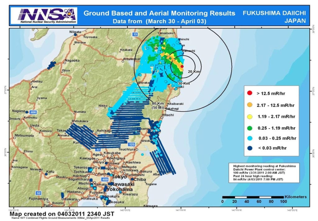 NNSA Surveillance of Fukushima Nuclear Disaster in 2011