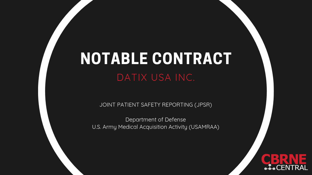 Notable contract award banner - Datix USA Inc. JPSR system