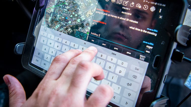 Using Android Tactical Assault Kit to Send Message from Patrol Vehicle