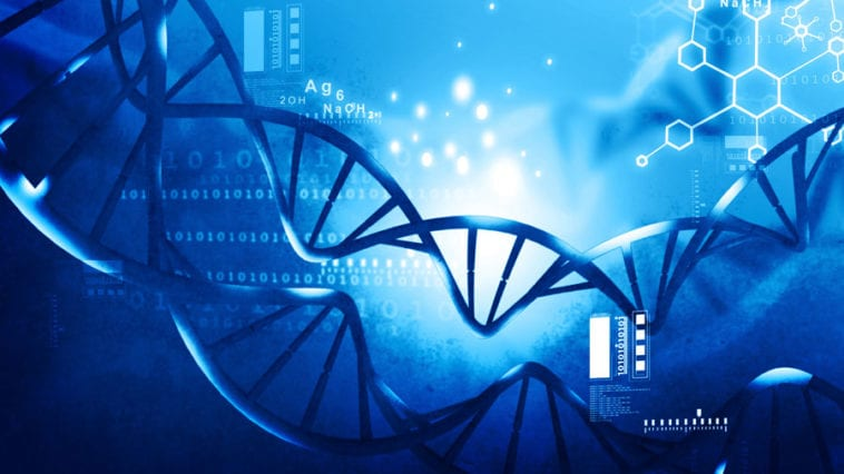 DNA strand science background