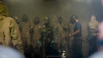 Kilo Company recruits practice CBRN defense