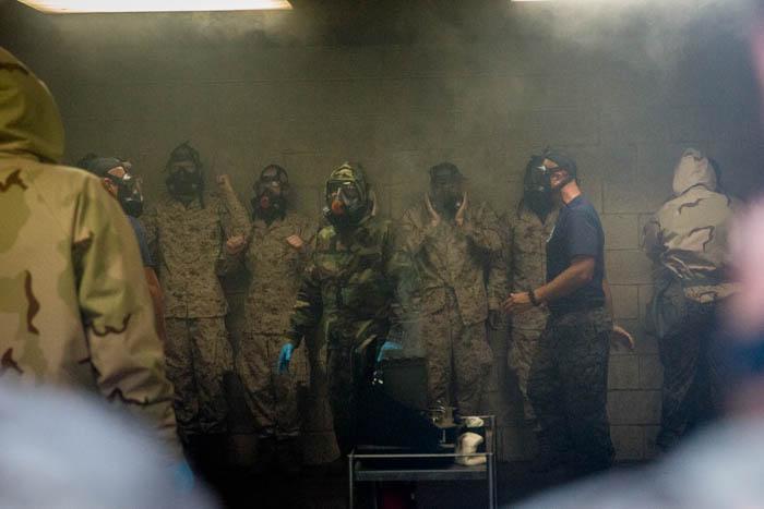 Kilo Company recruits practice CBRN defense