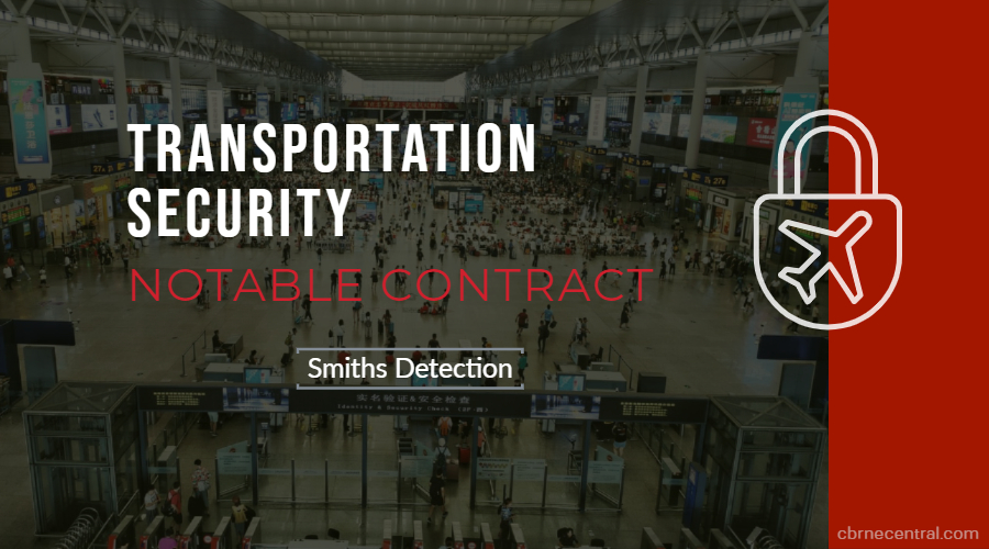 Smiths Detection Notable Contract Banner