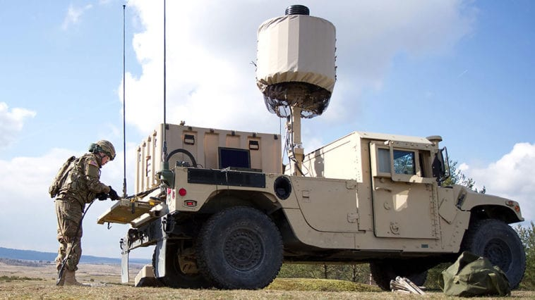 vehicle mounted military radar system