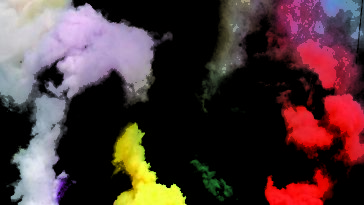 multiple hues of smoke plumes represent obscuring smoke grenades
