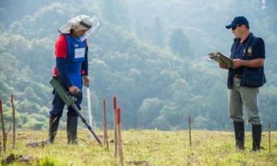 Standing in a landmine field